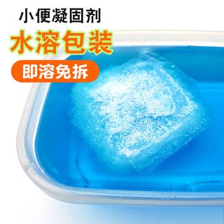 Urine coagulant, water-soluble film packaging, instant super absorbent resin, environmentally friendly urine curing, deodorization and odor absorption