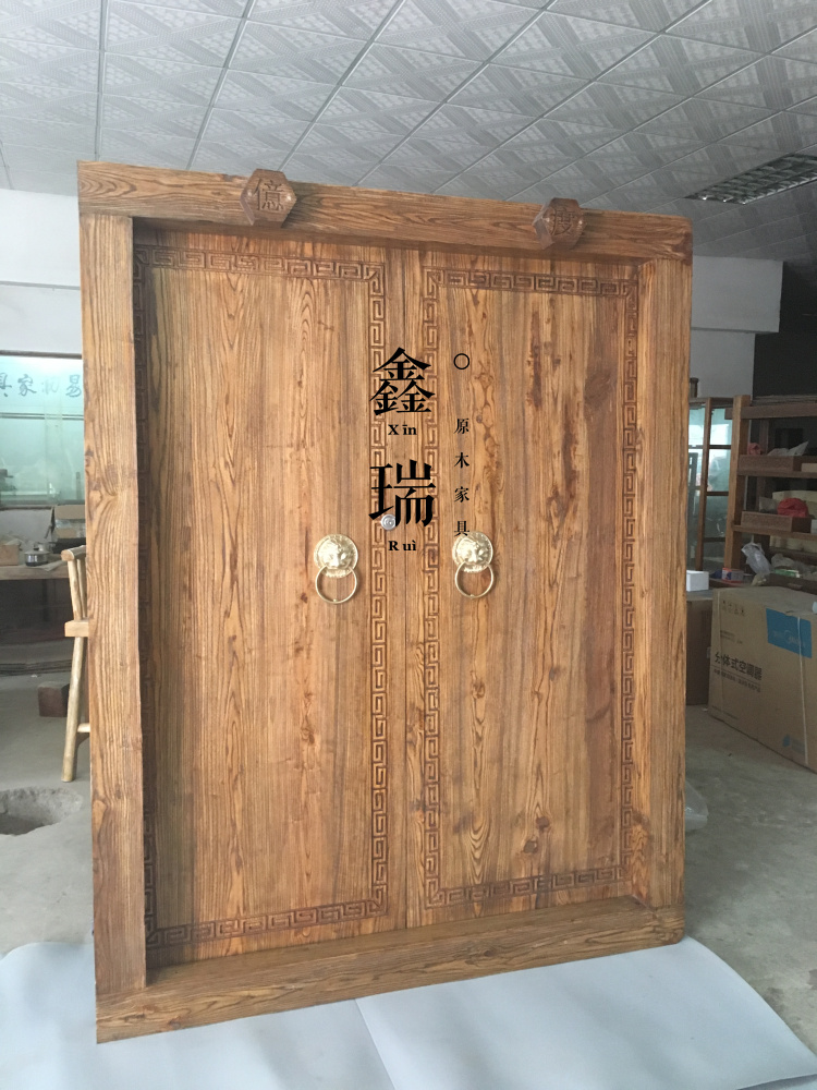 Solid wood antique Chinese door Villa door old elm into the Door Tea House  Old door - USD 457.05] Solid Wood Antique Chinese Door Villa Door Old Elm Into
