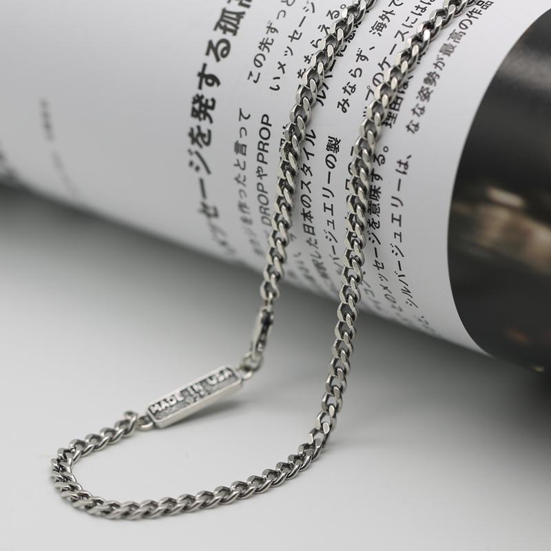 S925纯银饰品日韩个性潮人百搭情侣项链款长链毛衣链复古泰银包邮