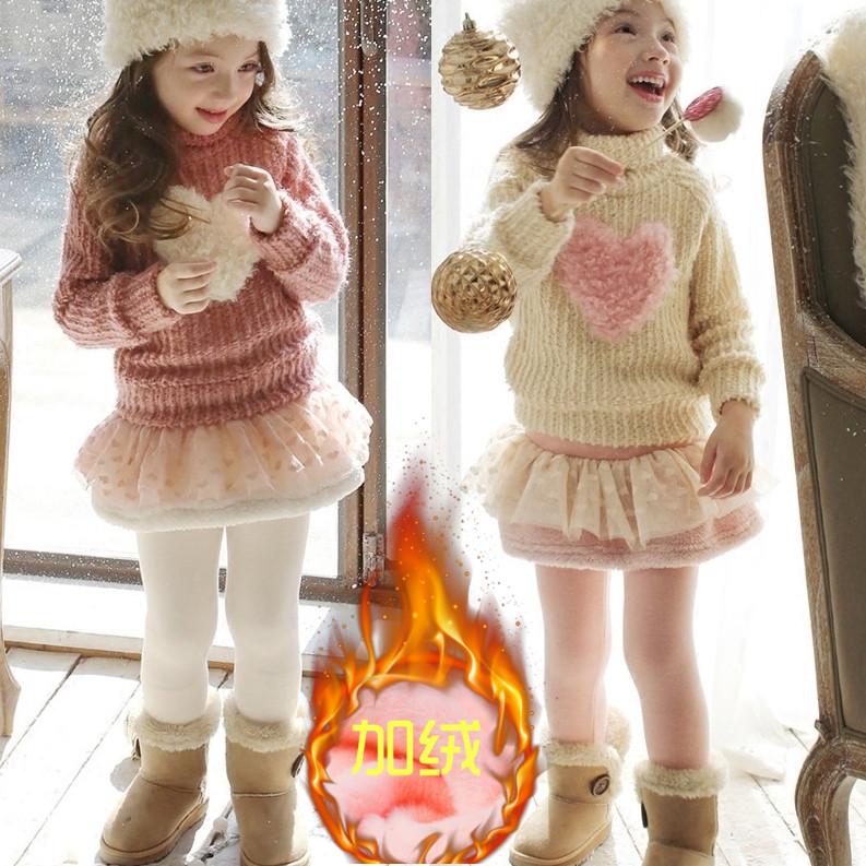 童装女童打底裤冬装外穿裙裤2韩版3儿童4秋冬款5加绒加厚7长裤9岁