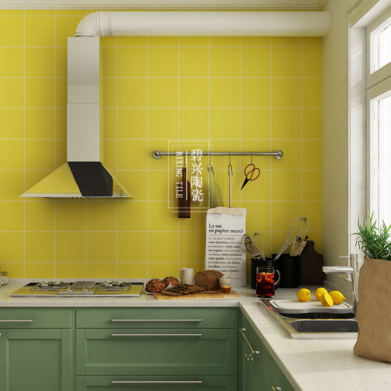 Light Green Blue Yellow Gray Tile