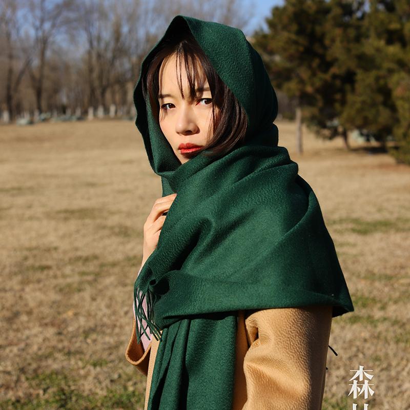 戎宝老重磅必收围巾披肩阿尔巴斯山羊绒秋冬客户