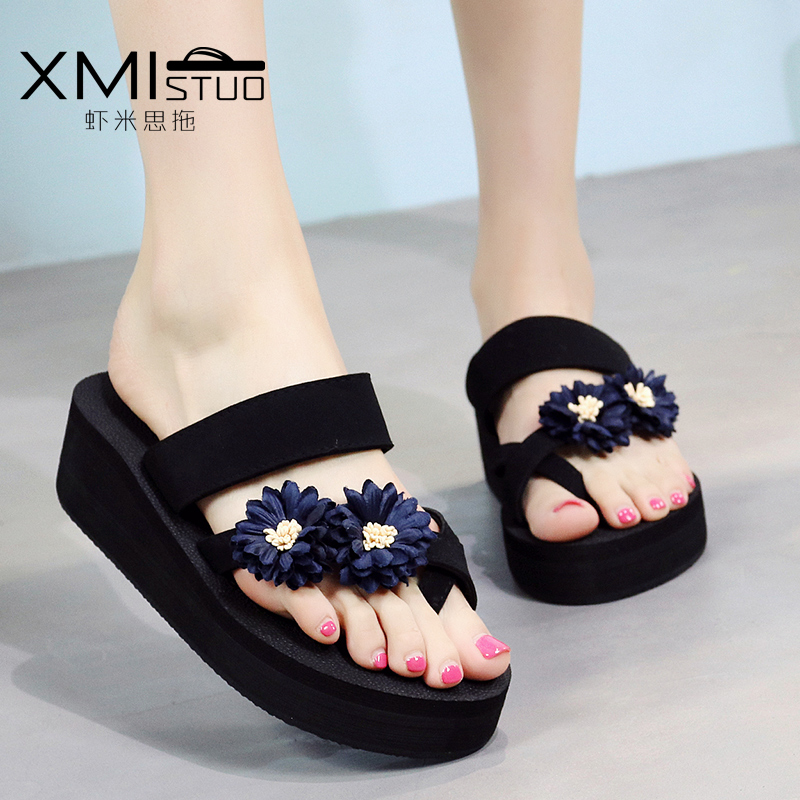d35edfde22ebc7 USD 22.05  New slippers female summer fashion wear slope with ...