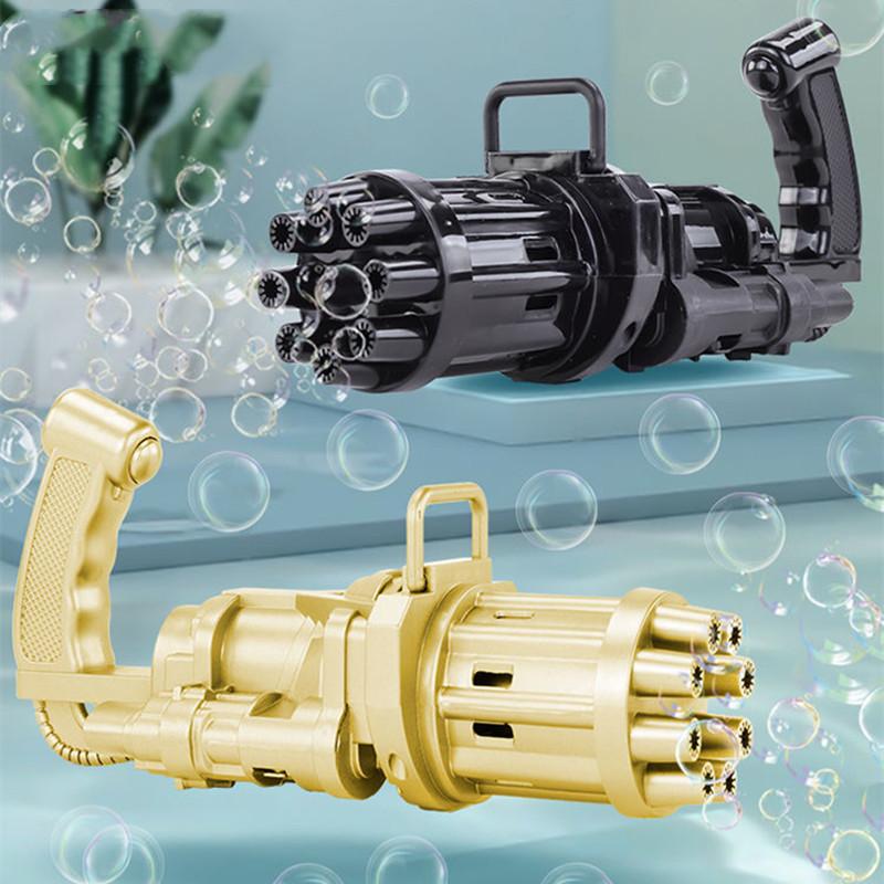 【果J】ST加特林八孔泡泡枪儿童电动玩具全自动吹泡泡机