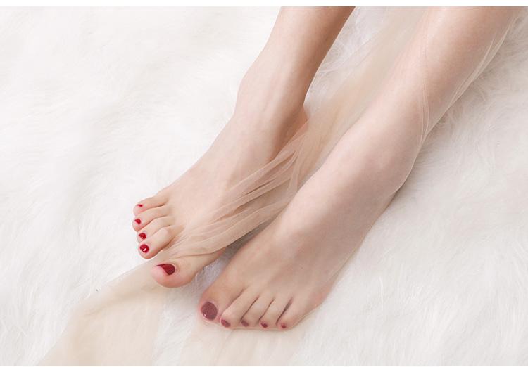 丝袜女薄款夏天超薄隐形全透明性感一线檔无痕美腿情趣脚尖透明详细照片