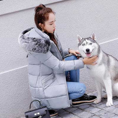 2018 mới chống mùa xuống bông quần áo phụ nữ áo khoác mùa đông dày áo mùa đông Hàn Quốc phiên bản của phần dài của quần áo cotton