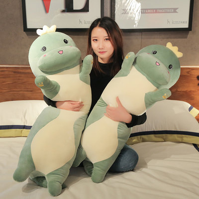 Cute Dinosaur Big Pillow Long Strip Pillow Nordic Bed Bedside Cushion Girl Sleeping Bedroom With You Sleeping With Legs