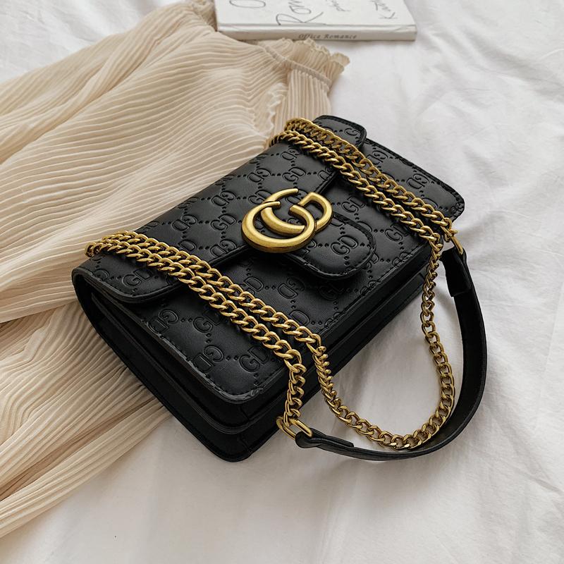 高級感小眾包包女2020新款洋氣單肩斜挎包chic時尚百搭鏈條小方包