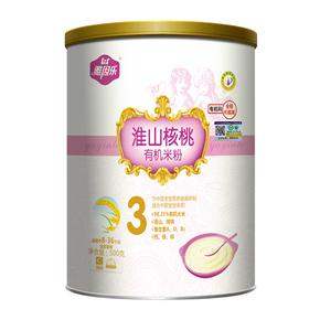 雅因乐婴幼儿淮山核桃3段有机米粉