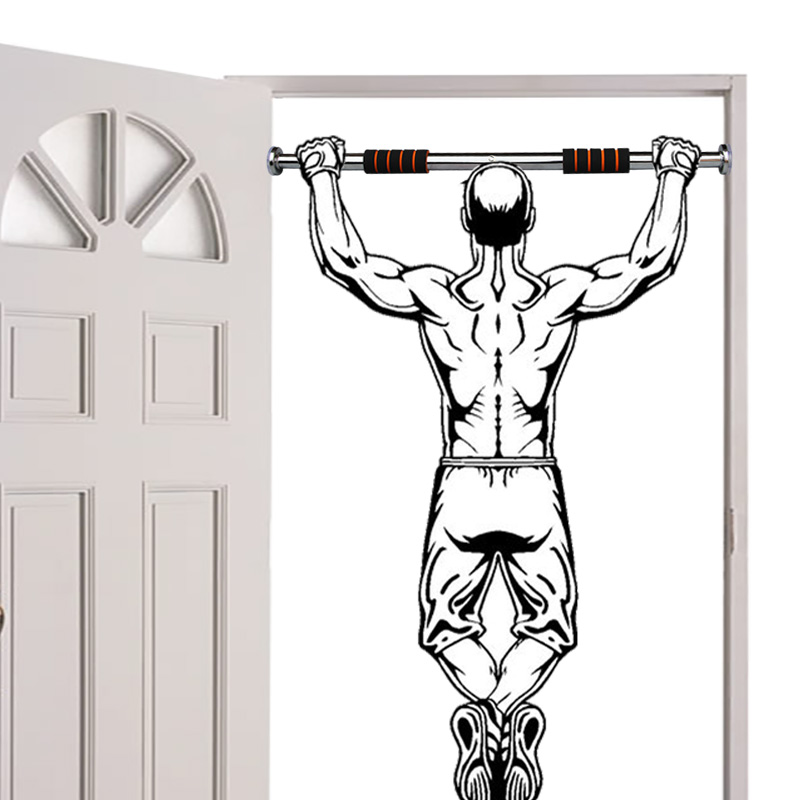 Door Horizontal Bar Home primer up sporting Goods fitness equipment home single rod indoor wall free punching hole