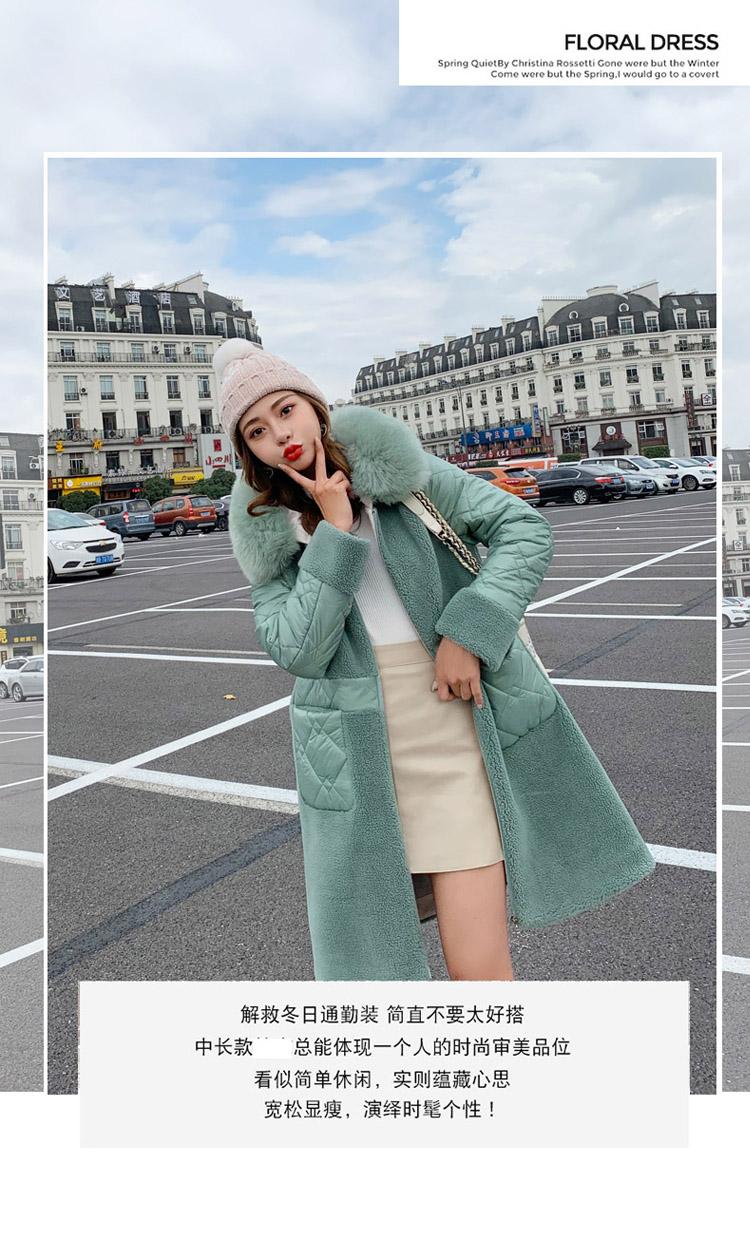 Deep degree 2020 autumn dress new large size women's autumn fashion luxury fur all-in-one jacket 9V9 42 Online shopping Bangladesh