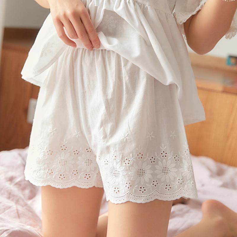 不卷边安全裤女防走光夏季薄款三分保险短裤纯棉内外穿宽松打底裤