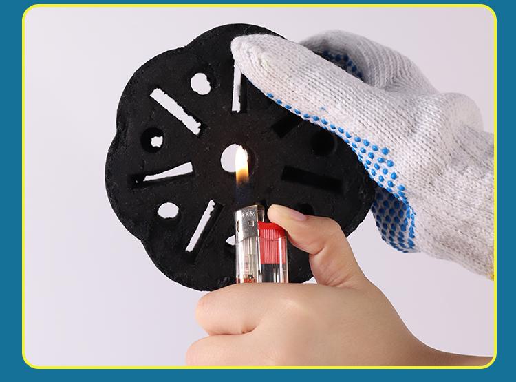 免火种果木烧烤炭易燃炭火锅无烟方形速燃木炭家用室内取暖耐烧详细照片