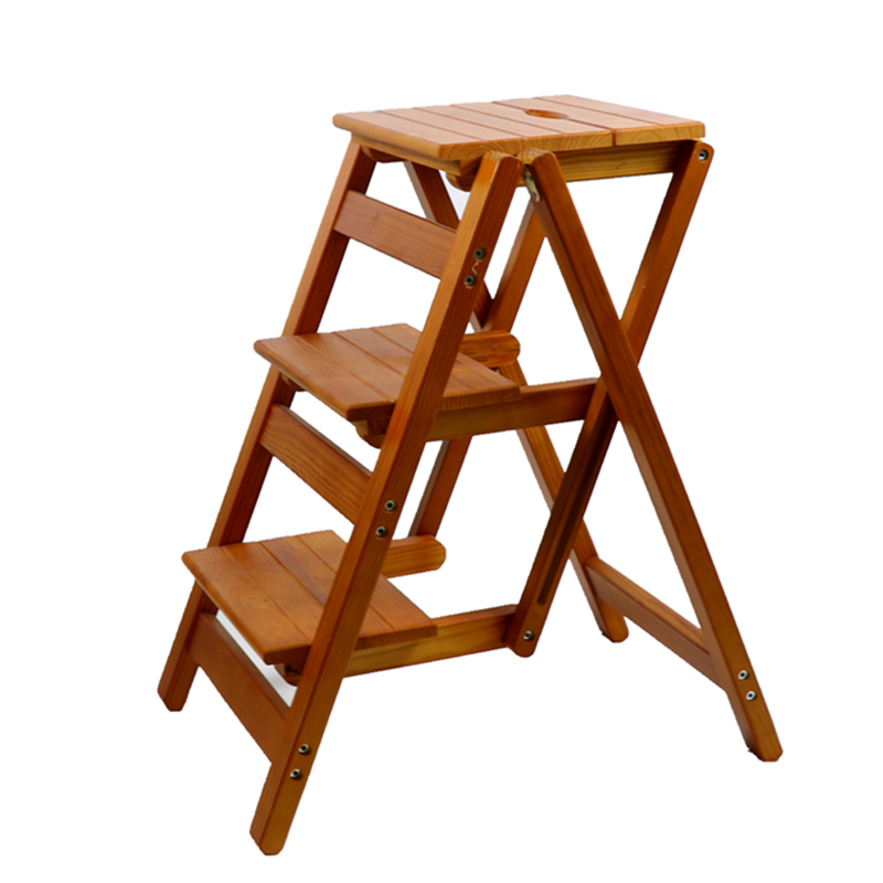 Household Folding Stair Chair All Solid Wood Ladder Chair Multi Function  Step Ladder Step Ladder Stool ...