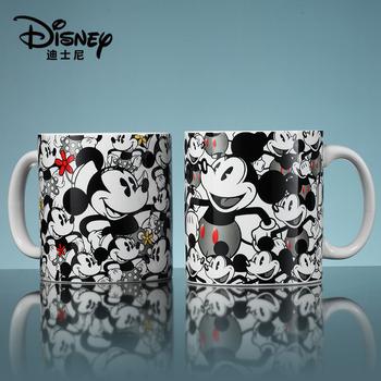 Disney микки и минни чашки крышка ложка кружка большой потенциал мультики керамика чашка мода пару чашек сын, цена 719 руб