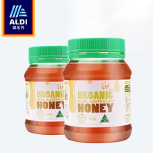 奥乐齐澳洲进口纯蜂蜜500g*2纯正罐装