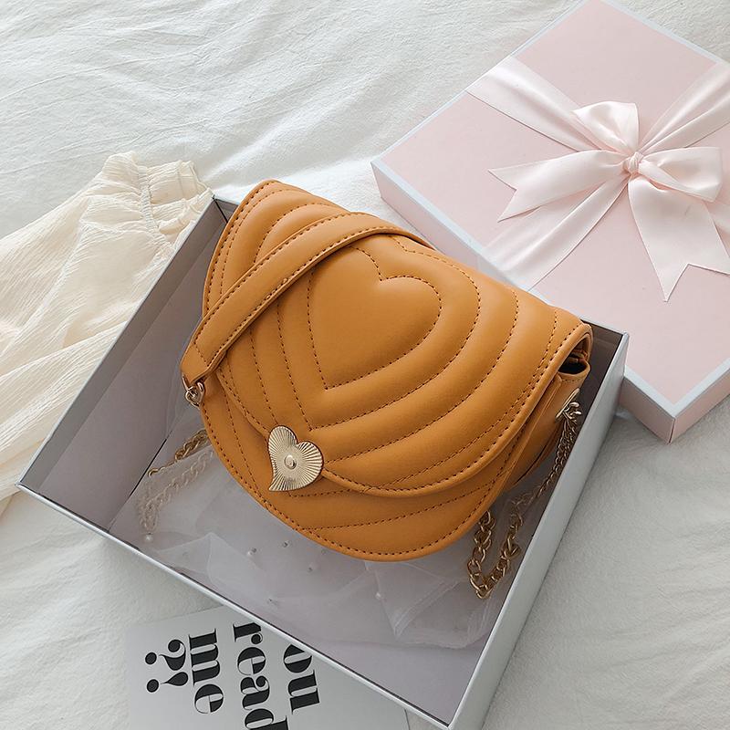 伯莱尼包包女2019新款韩版潮锁扣单肩斜跨包绣线小香风链条小圆包