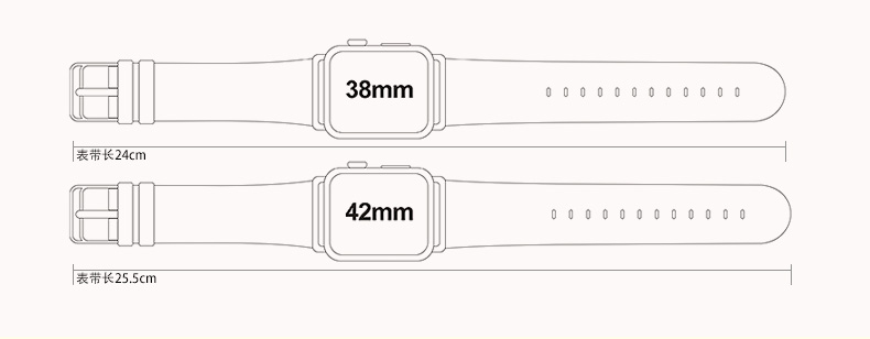 iCarer/XOOMZ Vintage Classic Genuine Leather Series Watchband for Apple Watch 42mm/38mm