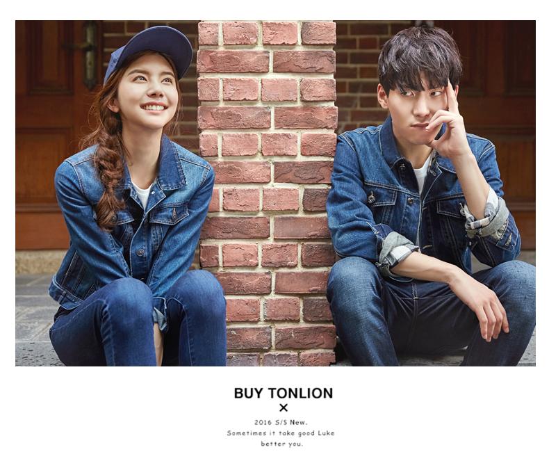 Tang lion mùa xuân và mùa thu những người yêu thích mặc denim jacket triều Hàn Quốc phiên bản của thiếu niên retro denim quần áo nam giới và phụ nữ slim denim jacket