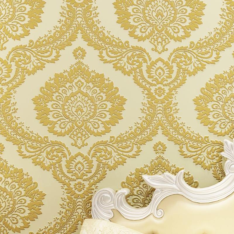 Велюровые обои TI-Цай стиле цветок 3D бархат Обои Спальня ТВ фон стены бумаги нетканого полотна с гостиная
