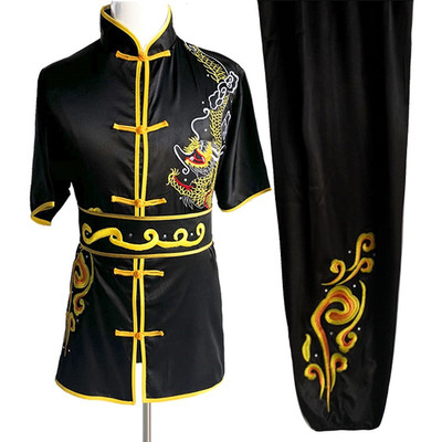 Martial Arts Clothes  Kungfu clothes Wushu costume embroidery dragon men and women long-sleeved short-sleeved Kungfu Costume
