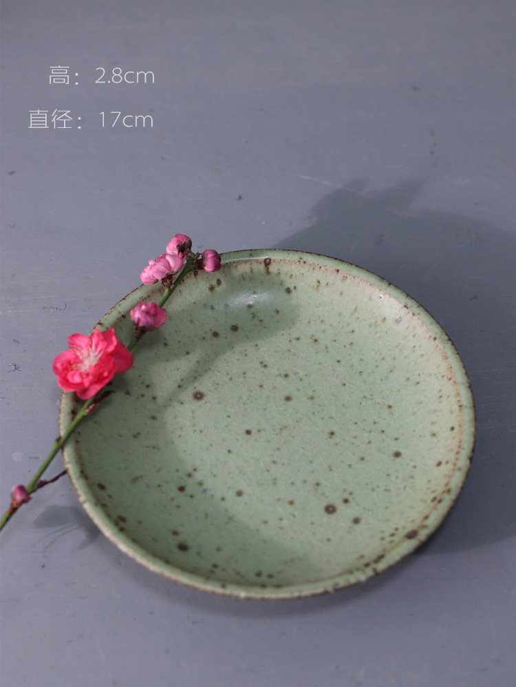 Poly real scene of jingdezhen ceramic large Japanese coarse TaoGan tea pot bearing plate of fruit tray tray cups of tea