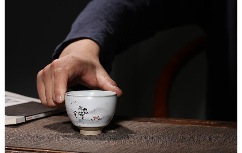 . Poly real boutique scene. The Variable kung fu tea cups jingdezhen ceramic sample tea cup masters cup tea set S personal single CPU