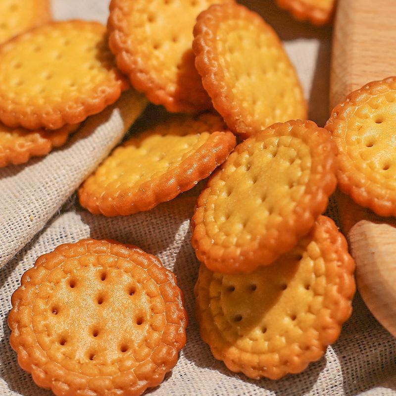 限100000张券佰味葫芦网红日本小圆饼海盐味植物油饼干粗粮零食奶盐味休闲零食