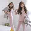 Girls Qiuyi Qiuku Set Cotton 12 Children's Line Clothes Line Pants Cotton Sweater 15 Years Old Children's Underwear Warm Pajamas