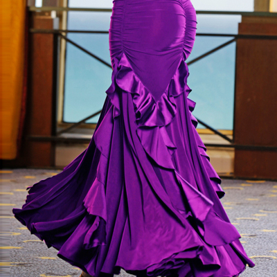 Ballroom Dance Dresses Modern Skirt Competition Skirt, Friendship Skirt, Half-length Skirt, Big Dress, National Standard Dance Dress Competition Skirt