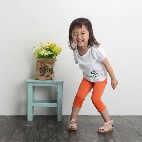 儿童夏季薄款七分裤 中裤 打底裤