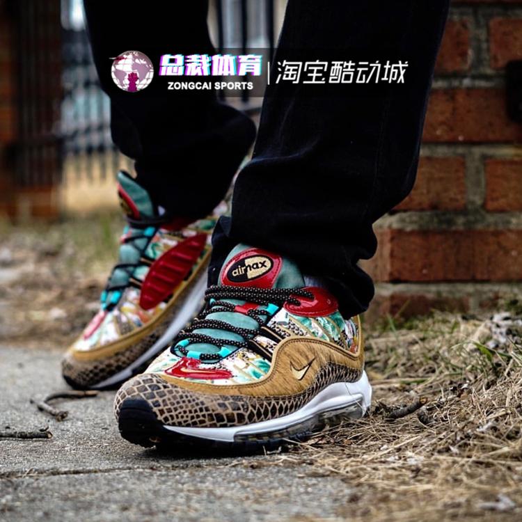 reputable site df14a 3f94e Nike Air Max 98 CNY Tianjin Bullet Chinese annual limited painting horse  hair running shoes BV6649-708