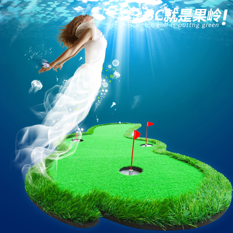 BCGOLF Golf Putting Trainer Văn phòng trong nhà Chăn đào tạo xanh nhân tạo Độ dốc có thể điều chỉnh - Golf