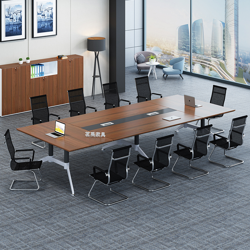 Office Furniture Conference Table Simple Modern Long Rectangular Workbench And Chair Combination