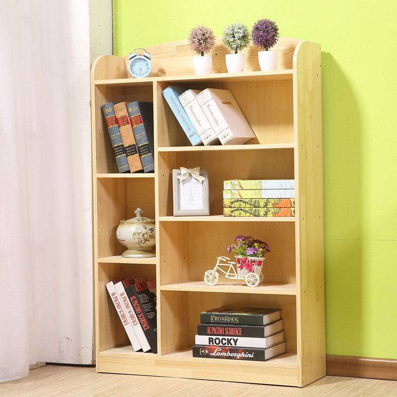 Bookshelf Childrens Bookcase Wood Combination Of Space Simple Floor Primary School Students Multi Storey