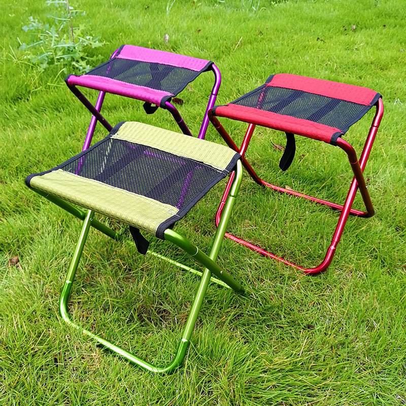 Magnificent Outdoor Folding Stool Portable Ultra Light Thick Aluminum Folding Chair Fishing Adult Small Horse Stool Chair Car Theyellowbook Wood Chair Design Ideas Theyellowbookinfo