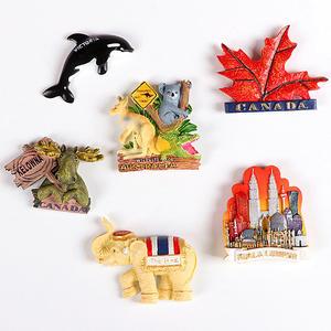 世界旅游景点立体冰箱贴澳大利亚美国泰国加拿大马来西亚磁贴老外