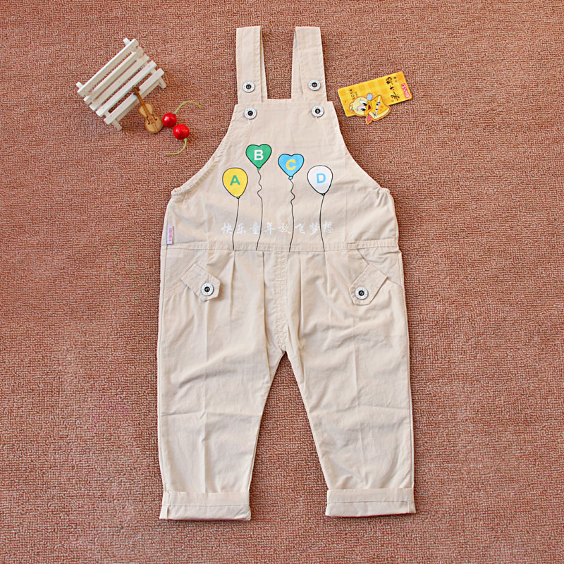 American duckling male and female baby belt pants color cotton 01-2-3 years old infant children single pants summer thin