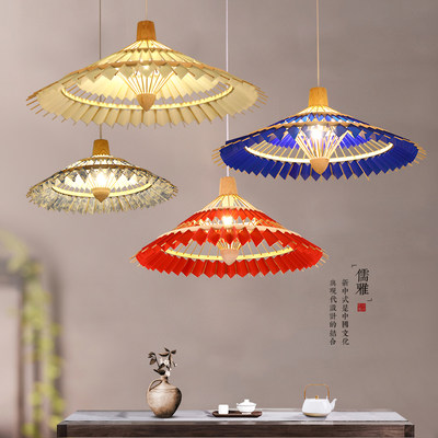 Bamboo Art Restaurant Light Pot Bamboo Art Bamboo Rain Umbrella Lamp Japanese Umbrella Zen Tea Room Light Creative Modern Chinese Chandelier