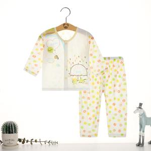 宝宝秋衣套装睡衣套装夏季竹纤维儿童内衣服男女童婴儿空调服薄款
