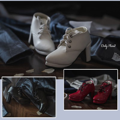 taobao agent BJD/SD/DZ 3 points baby girl shoes/leather boots Big sister/OL high heels middle boots SH08