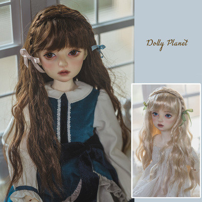 taobao agent 【DollyPlanet】Wig for BJD/SD baby super soft silk/soft silk/long curly hair braided QQ-88