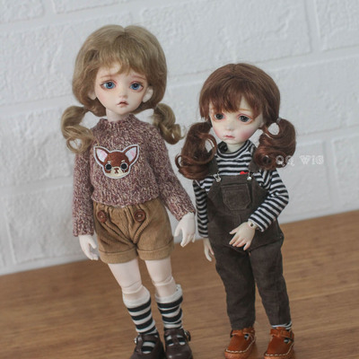 taobao agent 【DollyPlanet】BJD baby with mohair wig cute double ponytail *little sister*