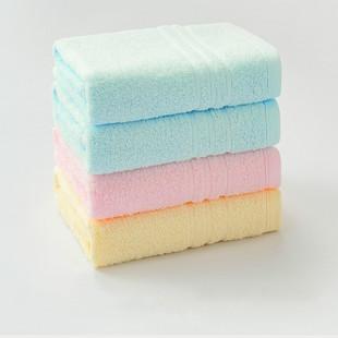 【4条-金号】不掉毛全棉毛巾
