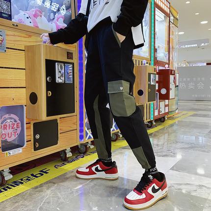 2019春秋男士休闲裤男韩版潮流男九分裤子宽松新款男裤港风工装裤