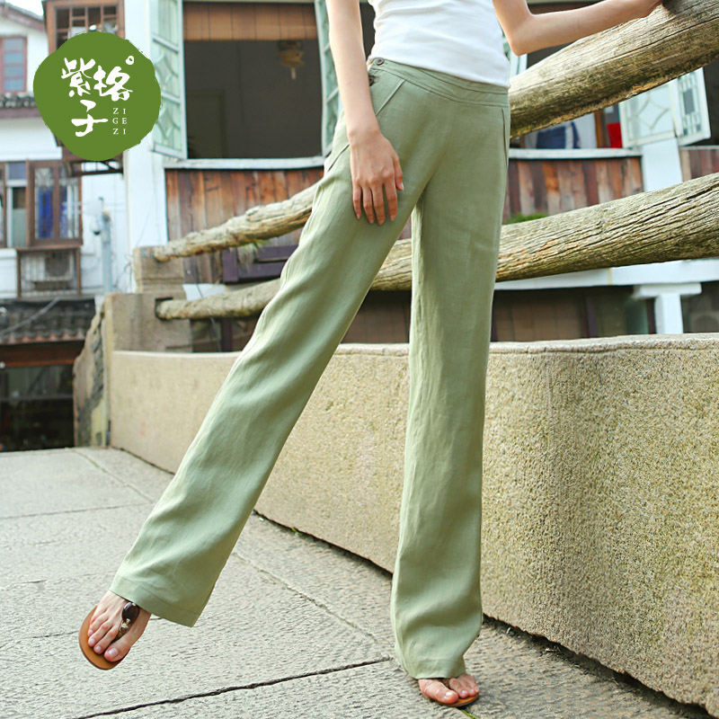 fashionable patterns purchase original aesthetic appearance 2019 linen wide pants summer casual pants women's pants simple pants summer  trousers loose was thin pants tide