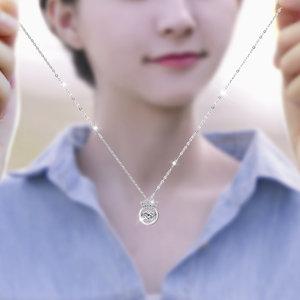 纯银项链女日韩版简约气质学生森系创意潮人小清新锁骨链闺蜜姐妹