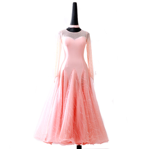 Custom size competition ballroom dance dresses for women girls Modern dance training dress big swing Waltz Costume Standard Dance Performance dress