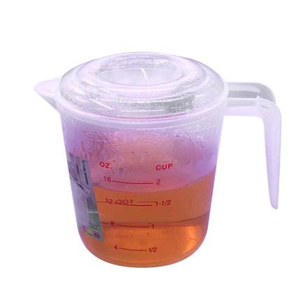 有盖塑料微波炉牛奶加热杯带刻度