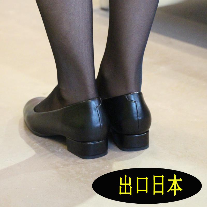 OL真皮女鞋单鞋女工平底黑色工作鞋职业装圆头软底皮鞋工鞋上班鞋
